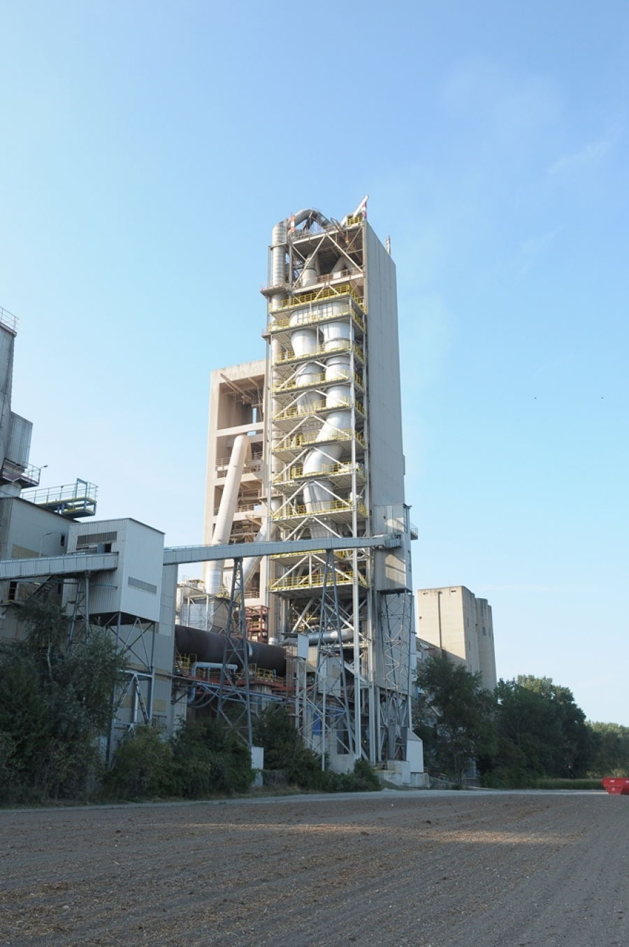 Mannersdorf kiln line with A TEC's in-line calciner in the front of the preheater